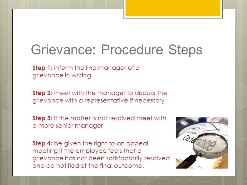 Grievance: Procedure Steps