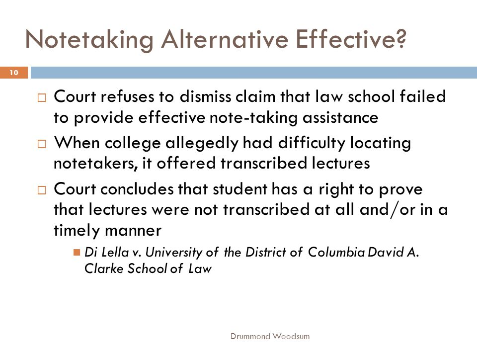 Notetaking Alternative Effective