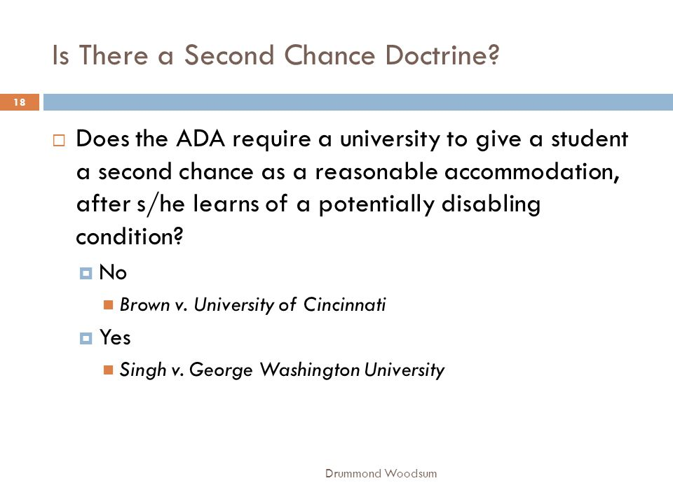 Is There a Second Chance Doctrine