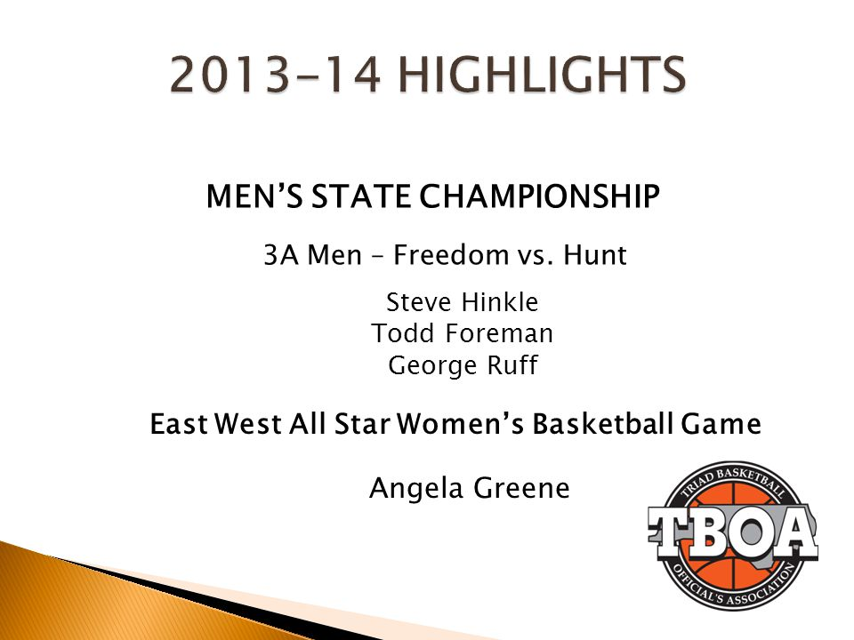 MEN'S STATE CHAMPIONSHIP East West All Star Women's Basketball Game