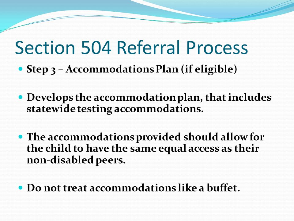 Section 504 Referral Process