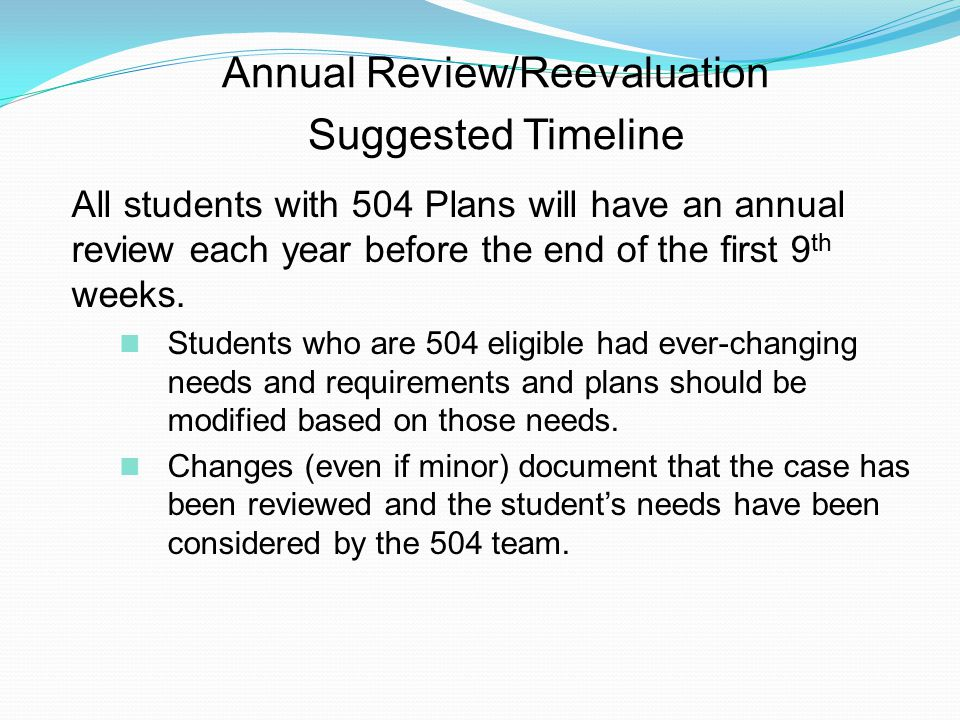 Annual Review/Reevaluation