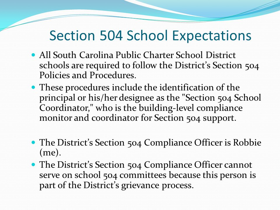 Section 504 School Expectations