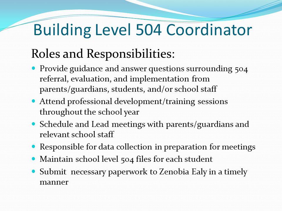 Building Level 504 Coordinator