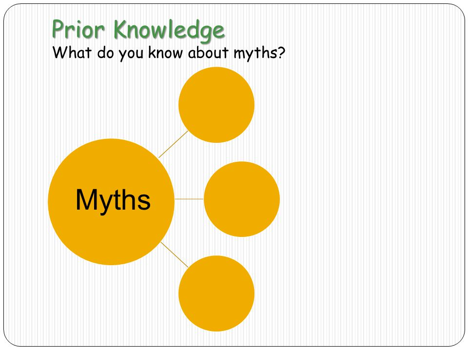Prior Knowledge What do you know about myths