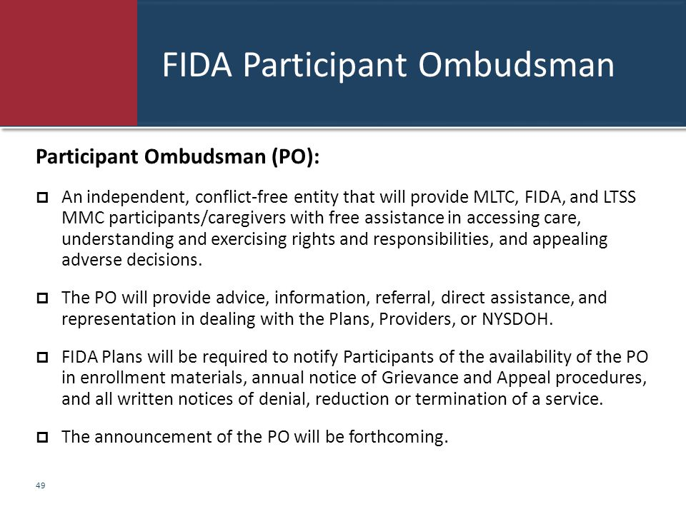 FIDA Participant Ombudsman