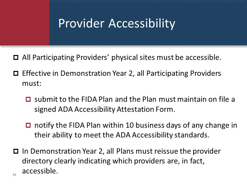 Provider Accessibility