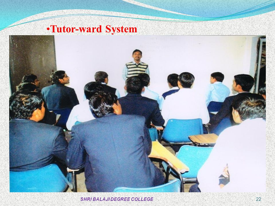 Tutor-ward System SHRI BALAJI DEGREE COLLEGE