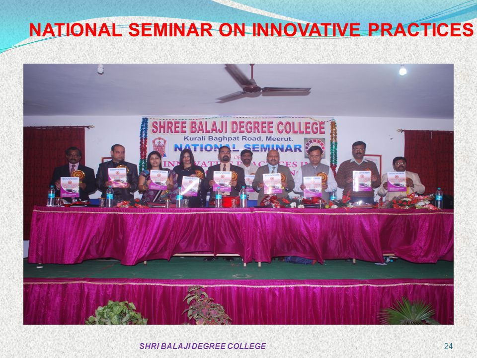 NATIONAL SEMINAR ON INNOVATIVE PRACTICES