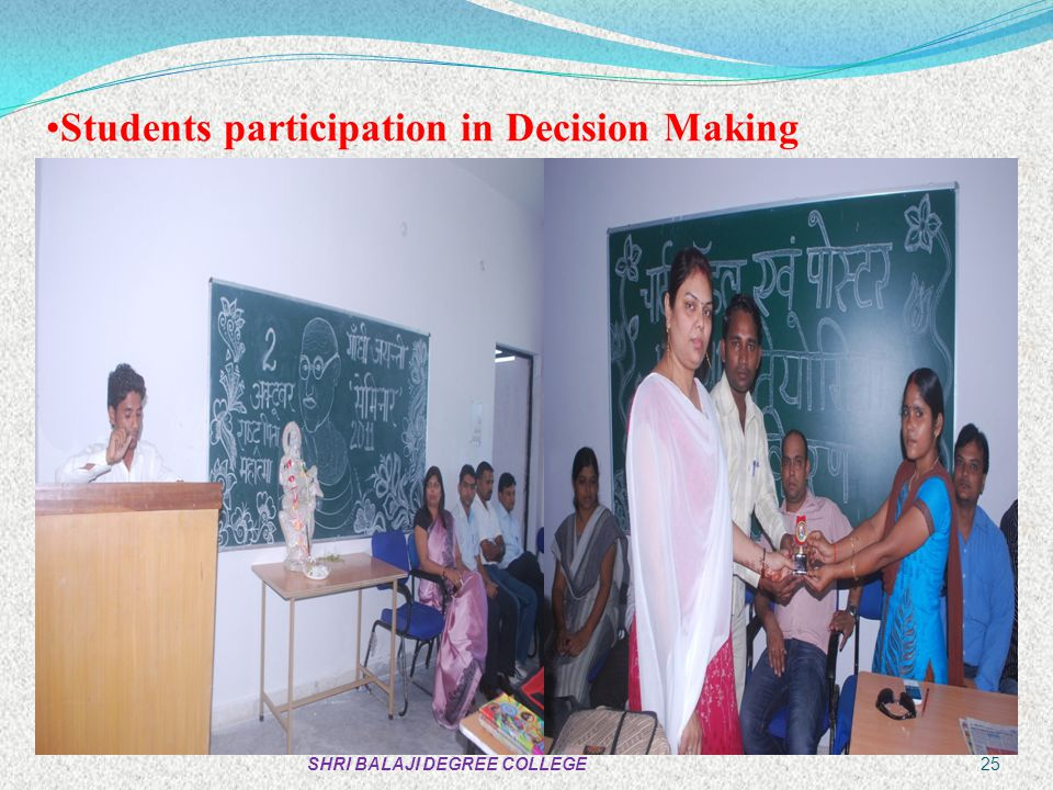 Students participation in Decision Making