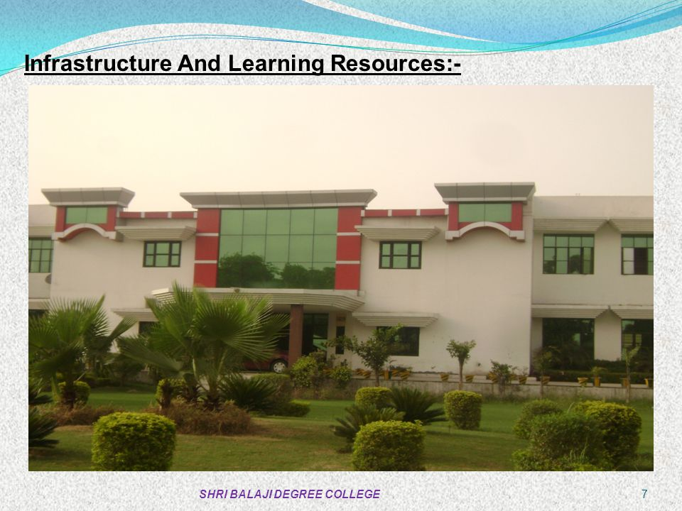 Infrastructure And Learning Resources:-
