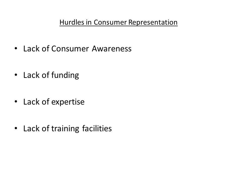 Hurdles in Consumer Representation