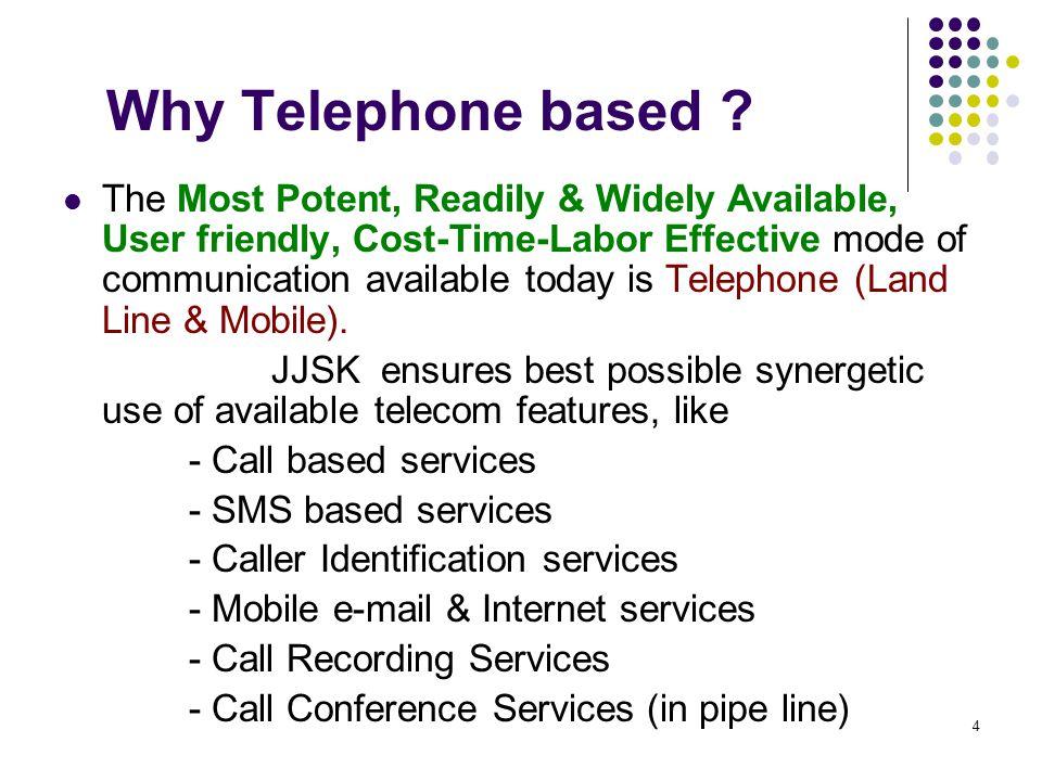 Why Telephone based