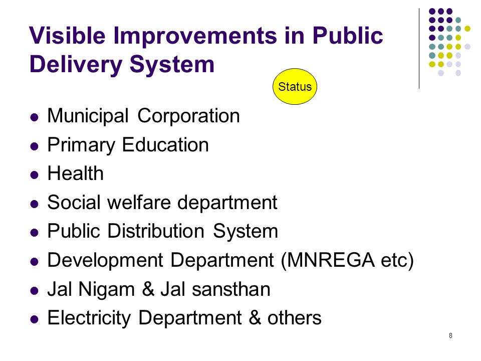Visible Improvements in Public Delivery System