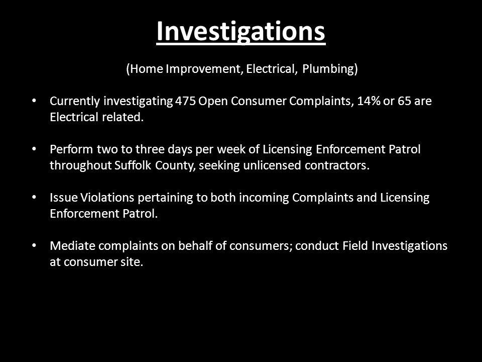 (Home Improvement, Electrical, Plumbing)