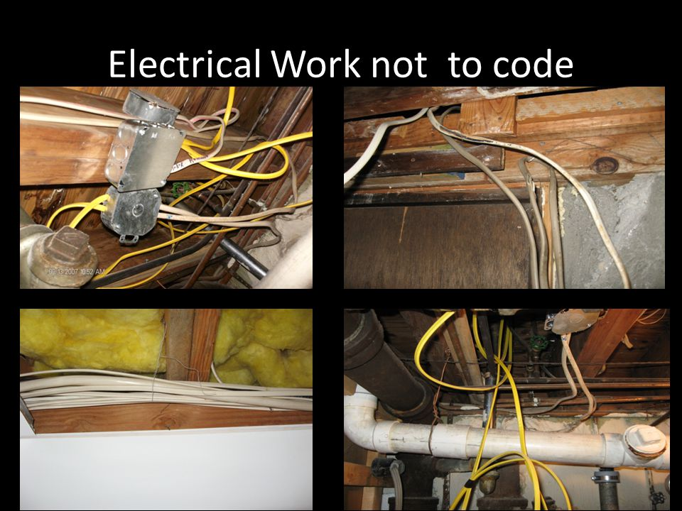 Electrical Work not to code
