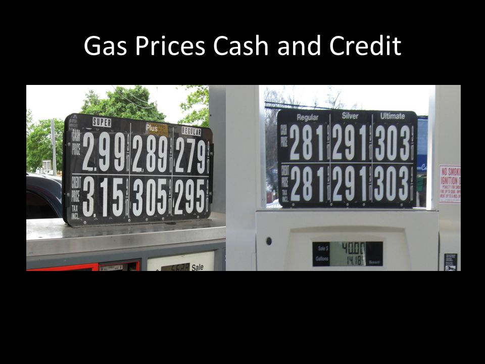 Gas Prices Cash and Credit