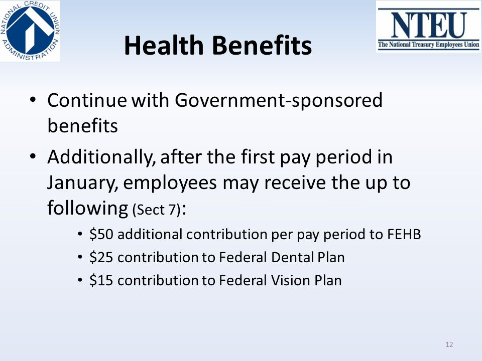 Health Benefits Continue with Government-sponsored benefits