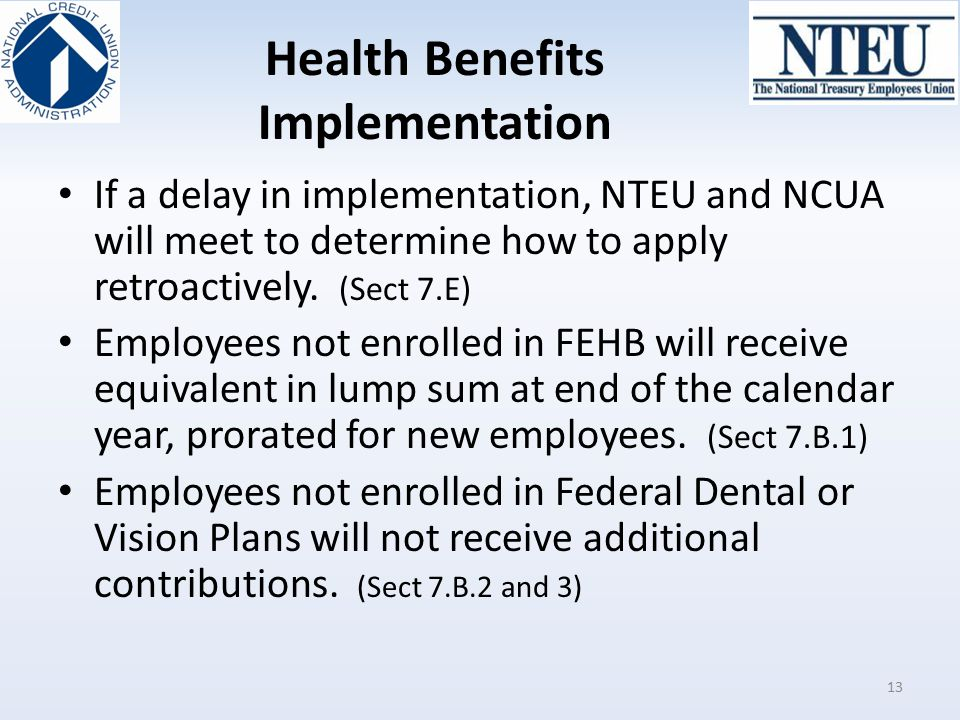 Health Benefits Implementation