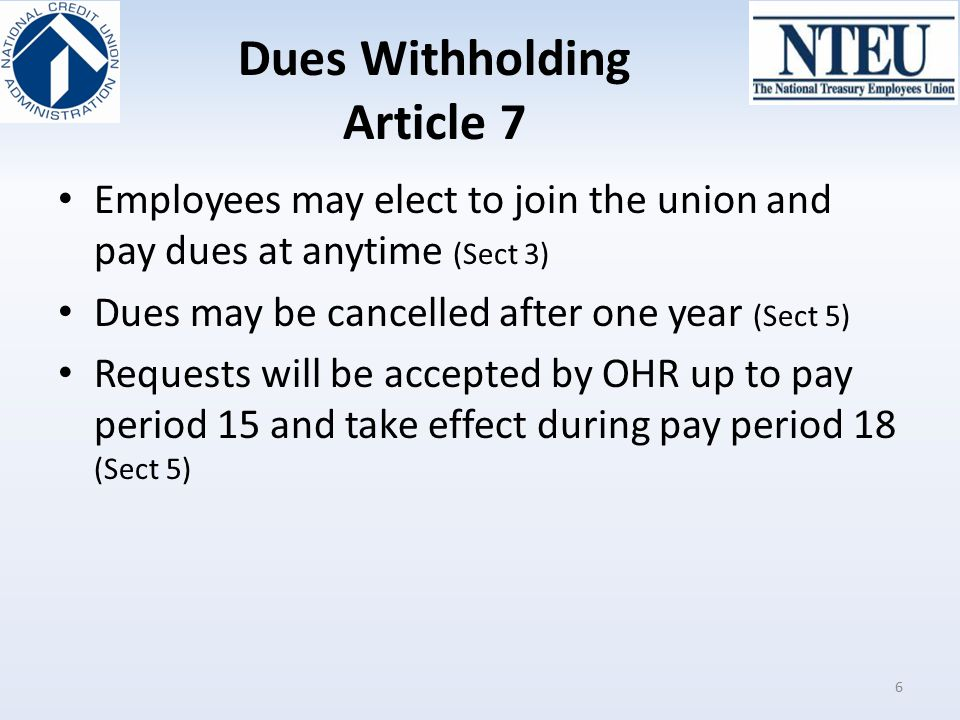 Dues Withholding Article 7