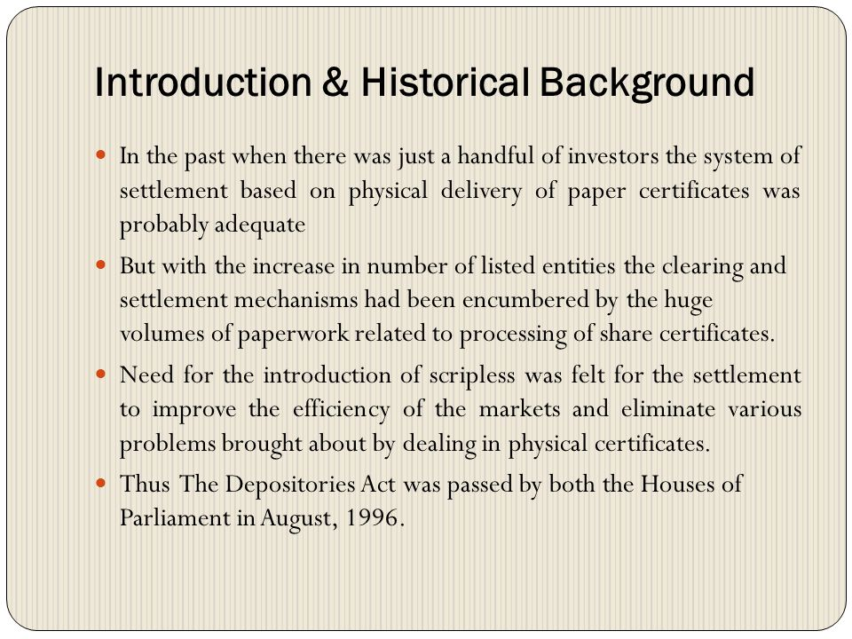 Introduction & Historical Background