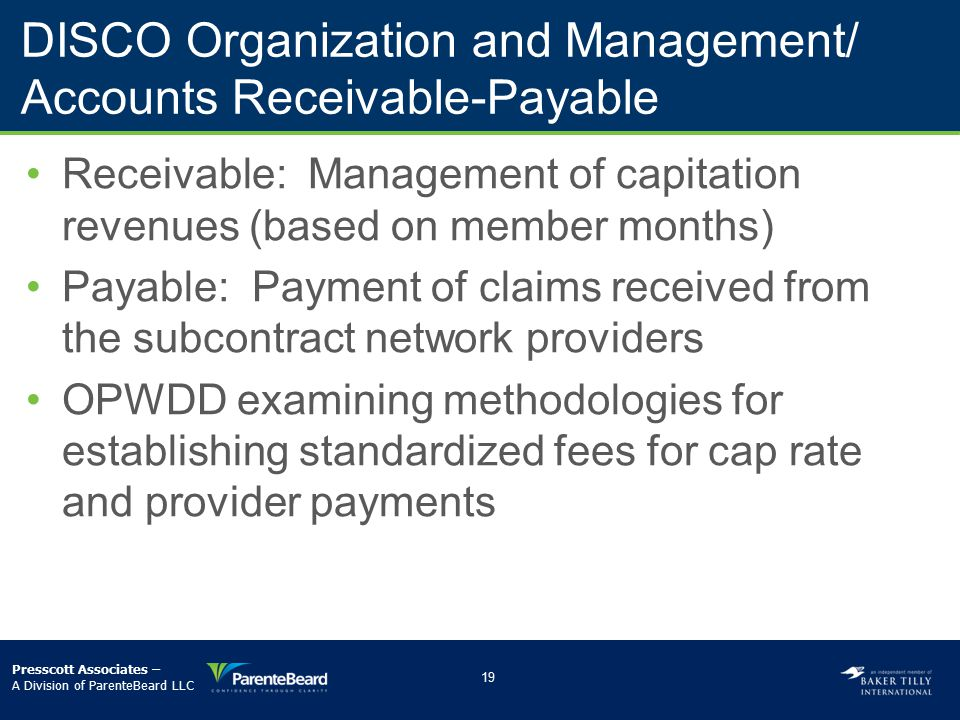 DISCO Organization and Management/ Accounts Receivable-Payable