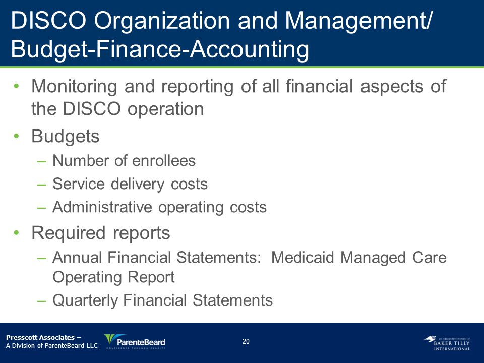 DISCO Organization and Management/ Budget-Finance-Accounting