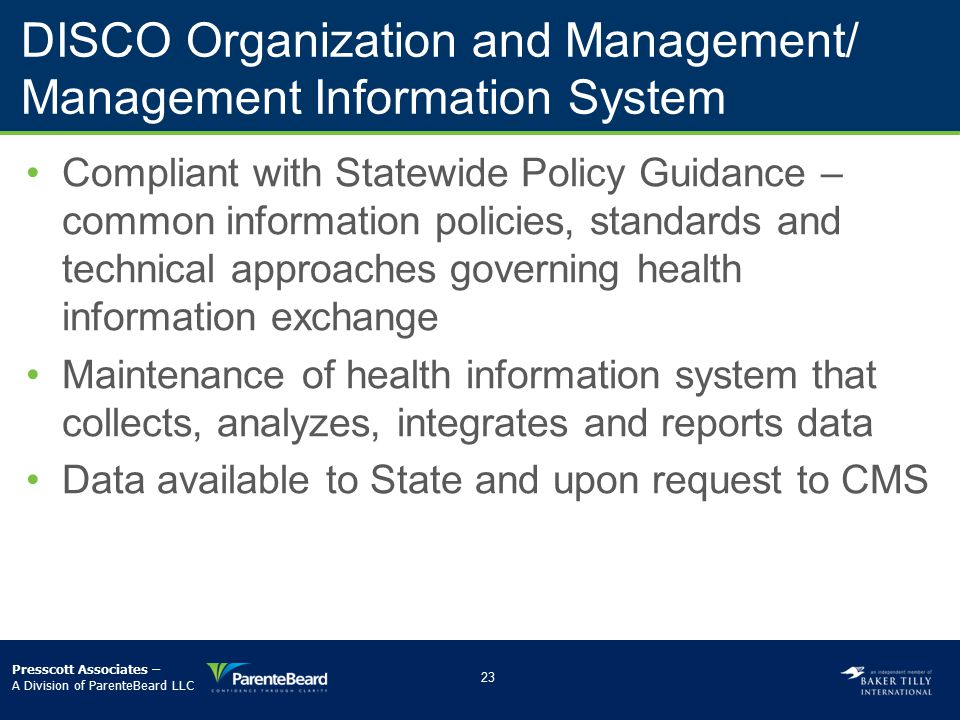 DISCO Organization and Management/ Management Information System