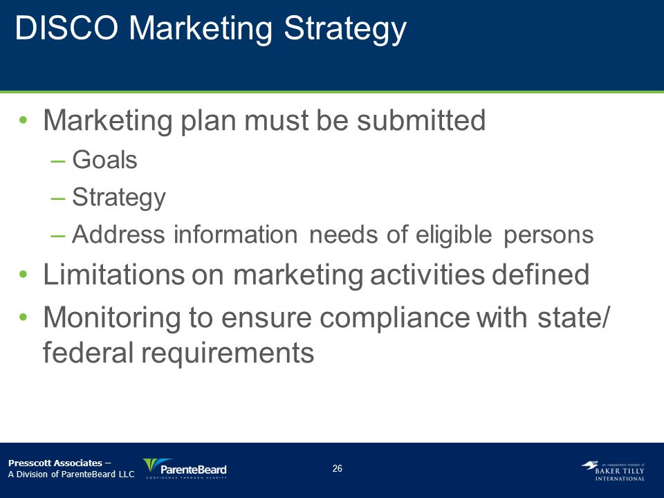 DISCO Marketing Strategy