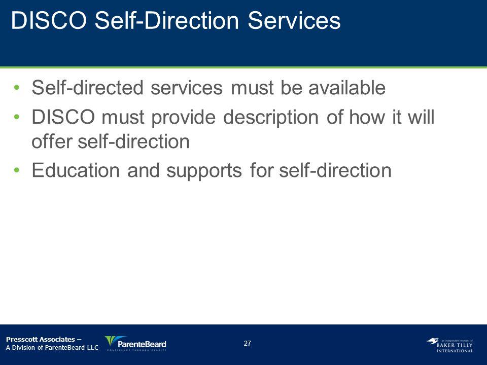 DISCO Self-Direction Services