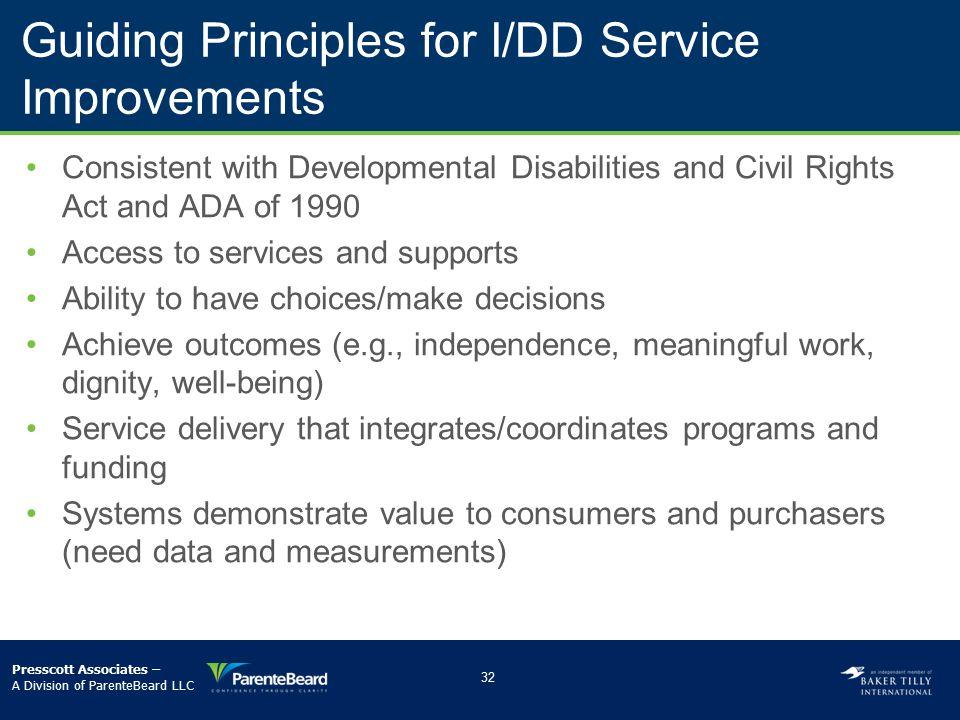 Guiding Principles for I/DD Service Improvements