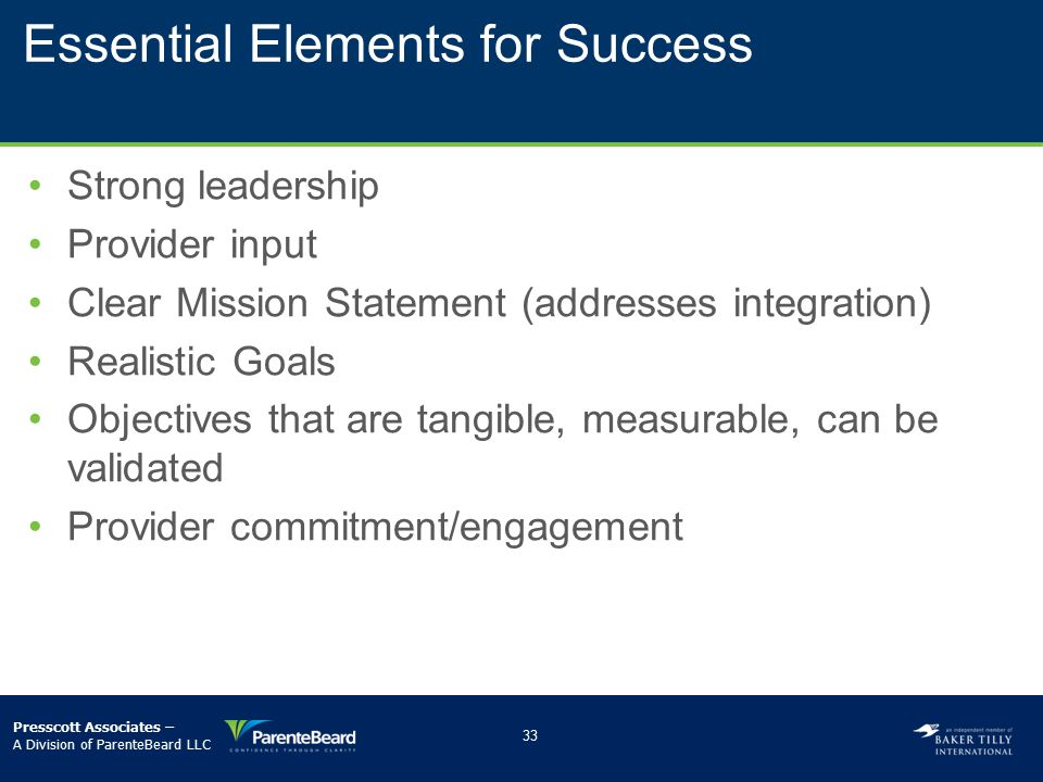 Essential Elements for Success
