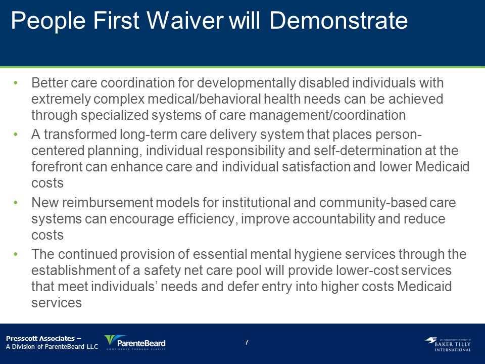 People First Waiver will Demonstrate