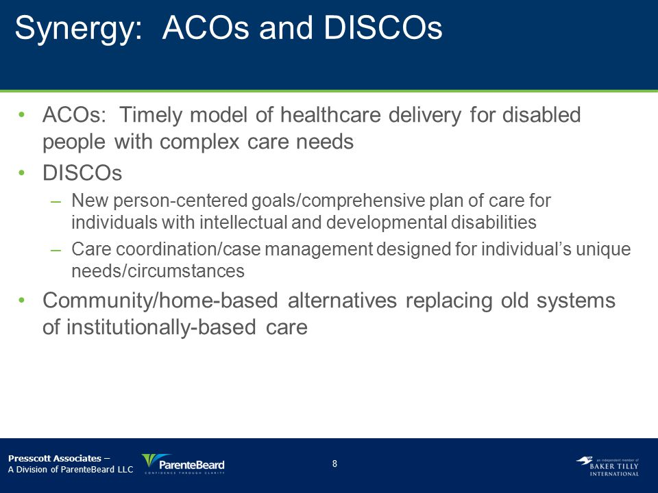 Synergy: ACOs and DISCOs