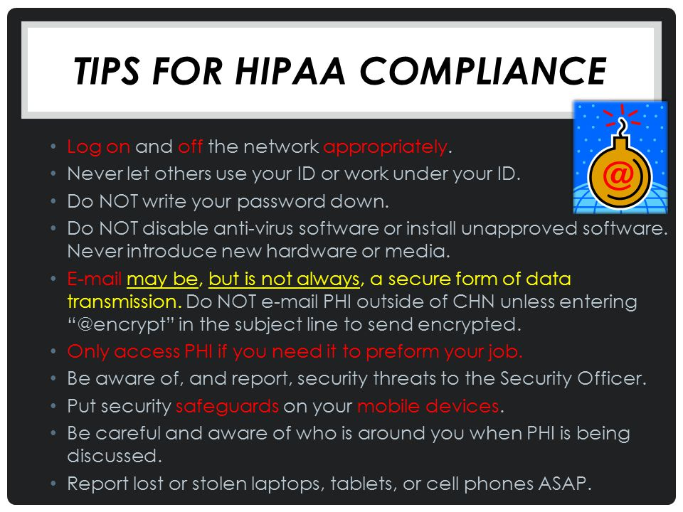Tips for Hipaa compliance