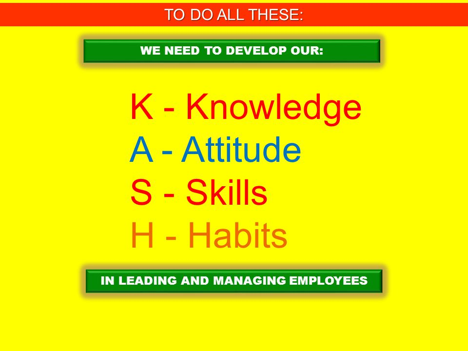 IN LEADING AND MANAGING EMPLOYEES