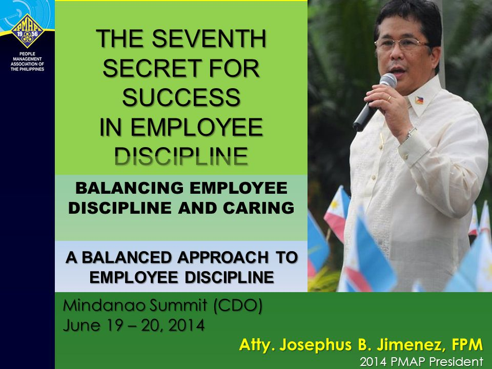 THE SEVENTH SECRET FOR SUCCESS IN EMPLOYEE DISCIPLINE