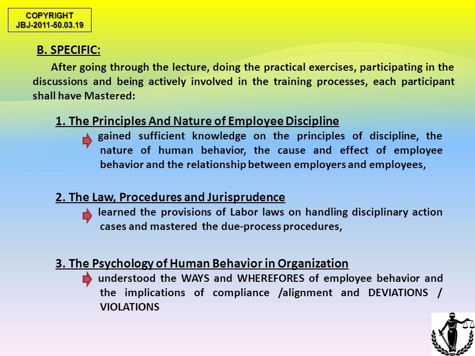 1. The Principles And Nature of Employee Discipline