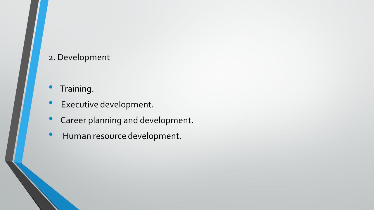 2. Development Training. Executive development.