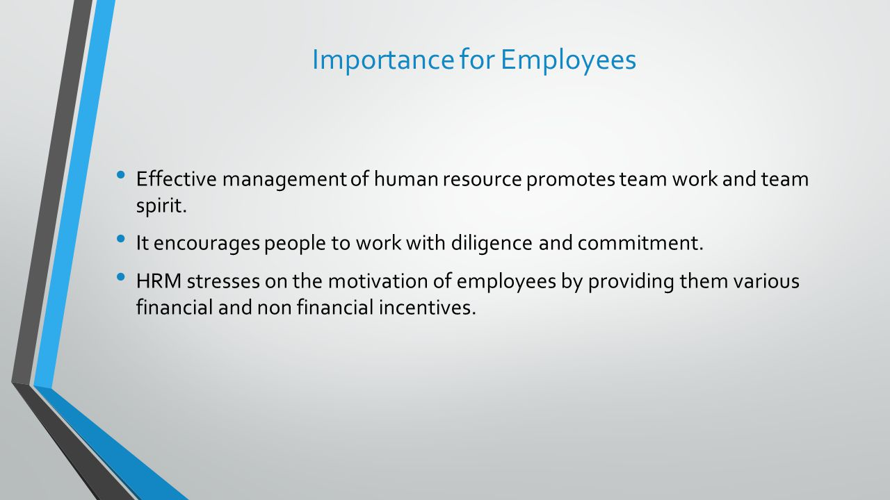 Importance for Employees