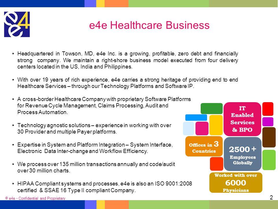 e4e Healthcare Business