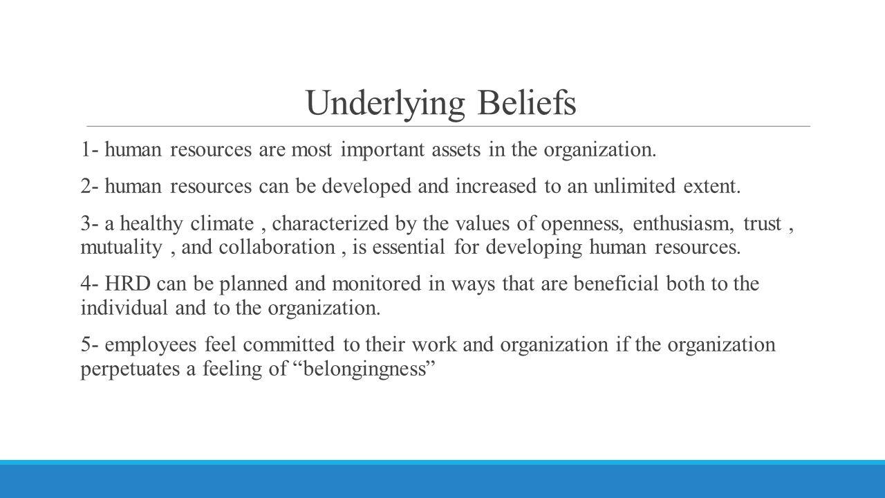 Underlying Beliefs