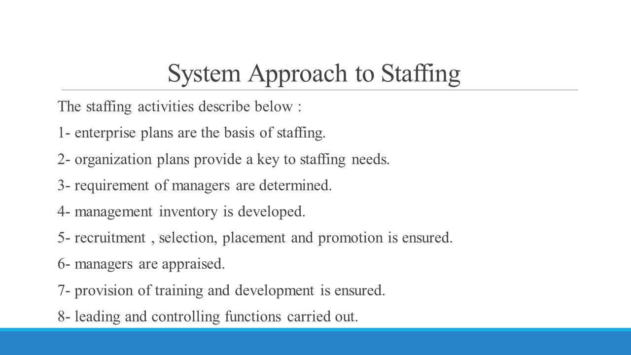 System Approach to Staffing