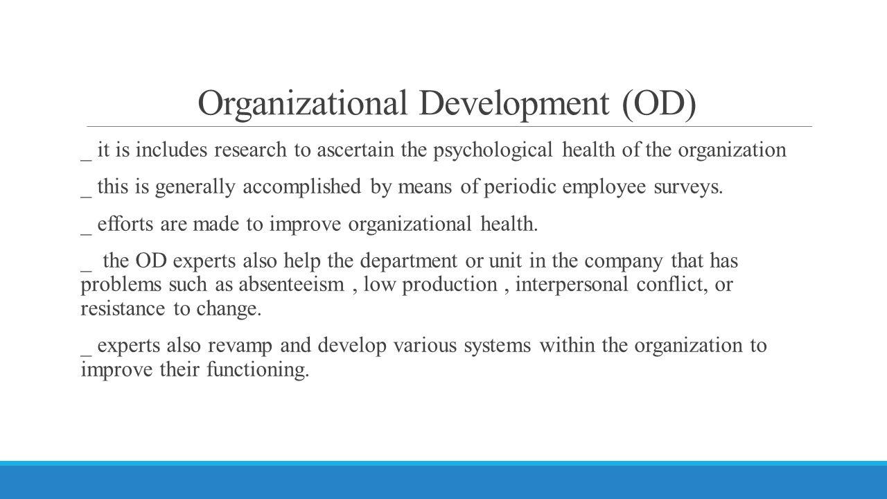 Organizational Development (OD)