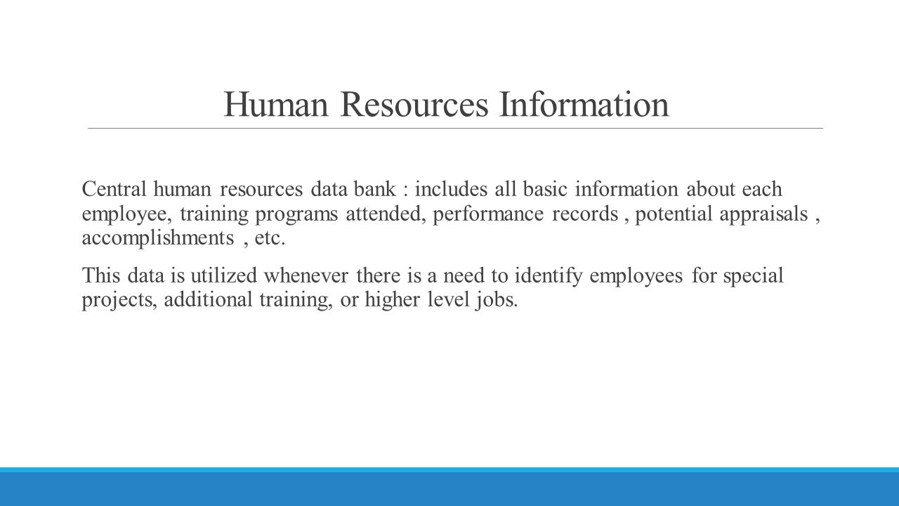 Human Resources Information