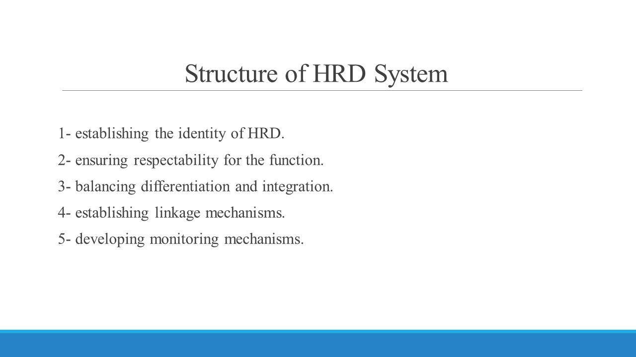 Structure of HRD System