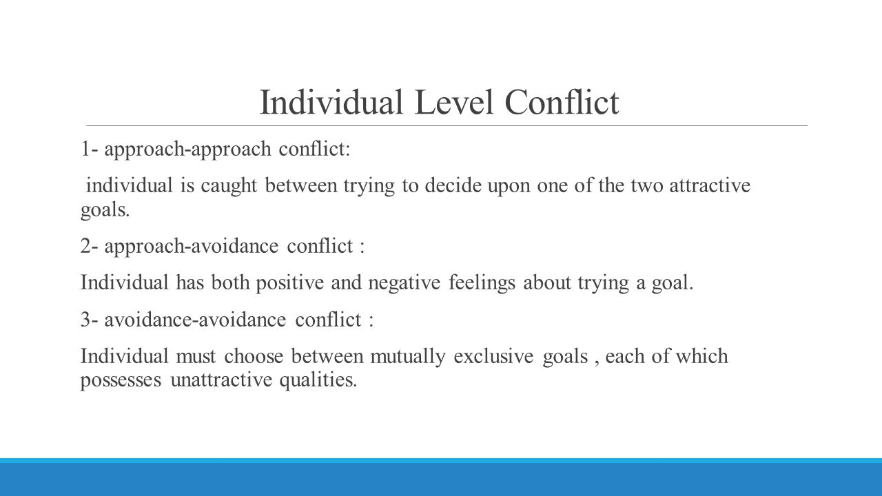 Individual Level Conflict