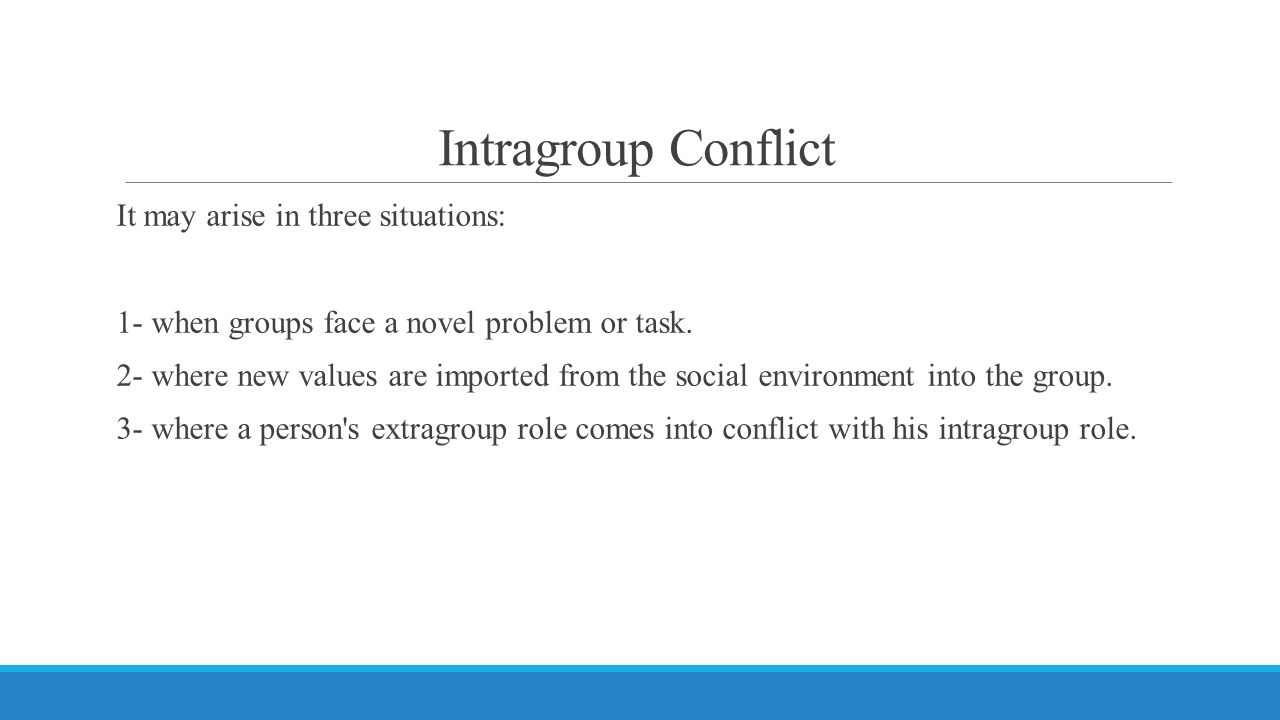Intragroup Conflict