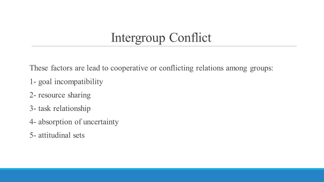 Intergroup Conflict