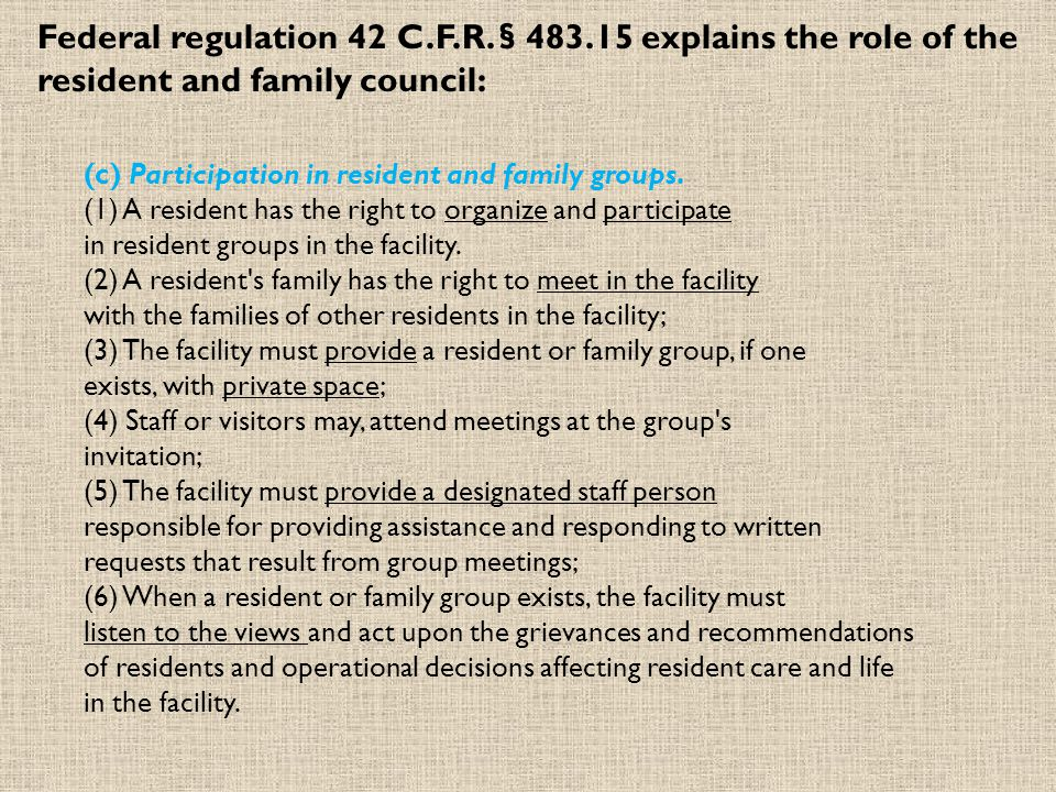 Federal regulation 42 C. F. R. § 483